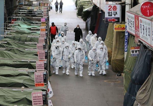 Число подтвержденных случаев заболевания коронавирусом в Южной Корее превысило 10000
