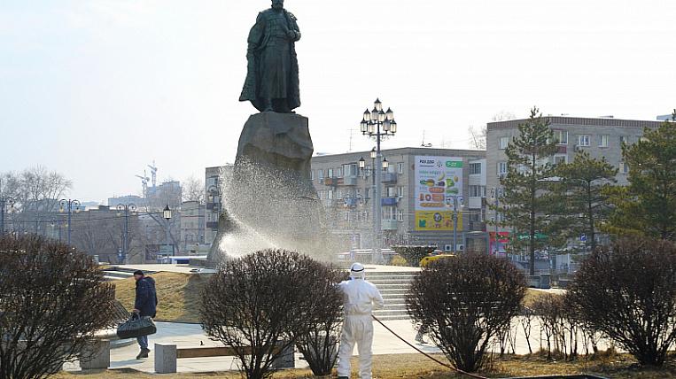 Улицы начали дезинфицировать от коронавируса в Хабаровске